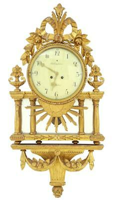 Late 19Th Century Swedish Gilt Wall Clock Rob Engstrom Stockholm