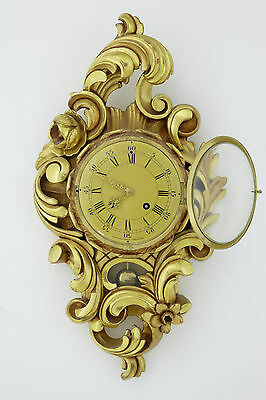 20Th Century Swedish Gilt Carved Wood Wall Clock By Westerstrand • £450.00