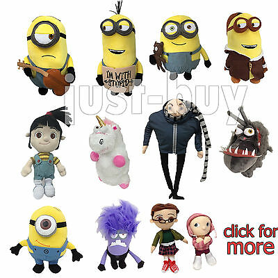 Despicable Me 3 Character Minion Plush Soft Toy Stuffed Animal Doll Teddy Figure