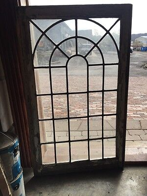 Sg 649 Antique Leaded Glass Arch Design Gazebo Window