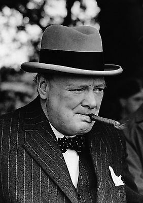 Art print POSTER / Canvas A Characteristic Portrait Of Mr Winston Churchill