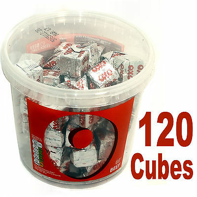 Oxo Cubes Beef 120 Individual Cubes Ideal Gravy Stock Etc 2 Tubs