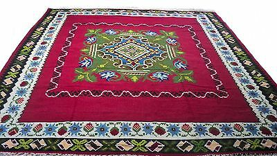 """Antique Vintage Unique Handmade Hand-Knotted Thick Rug  79"""" X 97"""" 100%wool  # 44"""
