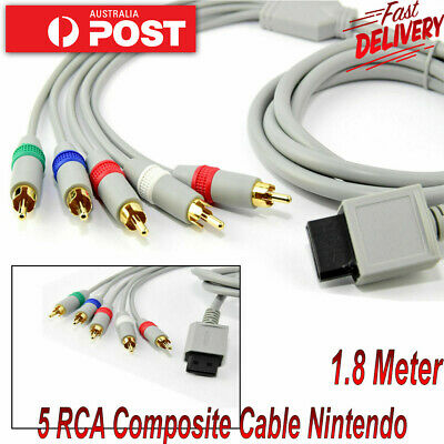 HDTV 5 RCA Component HD TV Audio Video Cable for Nintendo Wii & WiiU U Console