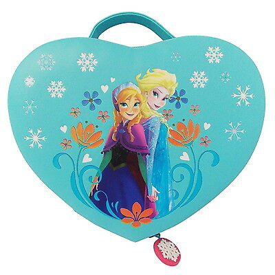 NEW OFFICIAL Disney Frozen Anna and Elsa Girls Kids Cosmetic Jewellery Box Case