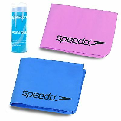 Speedo Sports Pva Towel With Case Swimming Gym Quick Drying