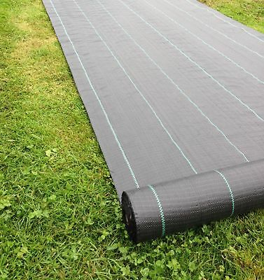 Yuzet 2m x 50m 100g Weed Control Ground Cover Membrane Fabric Heavy Duty garden