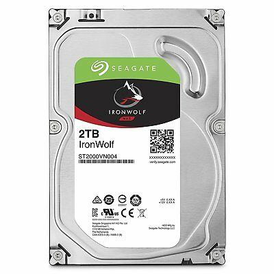 "New Seagate Ironwolf NAS HDD 2TB 64MB Cache 3.5"" Internal Hard Drive ST2000VN004"