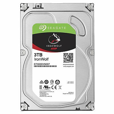 "New Seagate Ironwolf NAS HDD 3TB 64MB Cache 3.5"" Internal Hard Drive ST3000VN007"