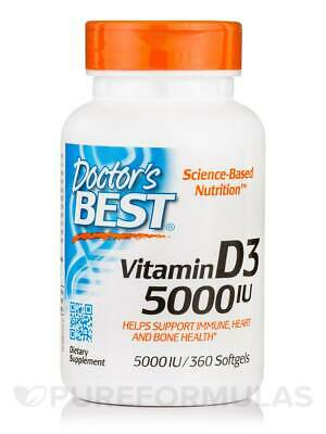 Vitamin D3 5000 IU - 360 Softgels by Doctor's Best