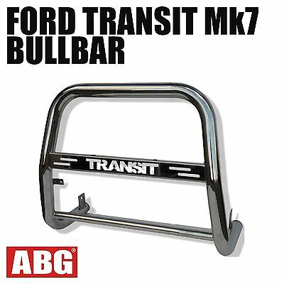 For Ford Transit Mk7 Van 2006 to 2013 A-Bar Nudge Bullbar with Logo S/ Steel