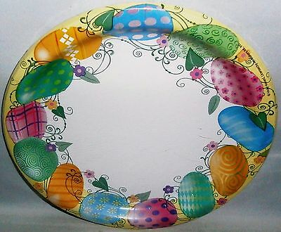 """Easter Paper Plates  10 ct   8 3/4"""" Plates  EASTER EGG GARLAND"""