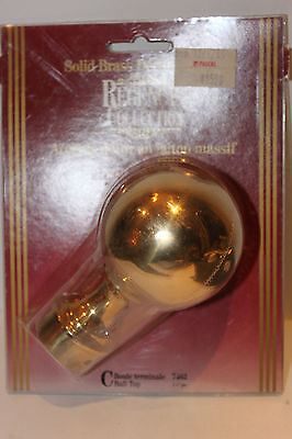 "(Aa-10110) Regent Brass Ball Finial, 1.5"", Nib, Nos,new"