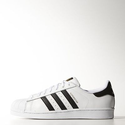 New Men's Adidas Originals Superstar Shoes  [C77124]  White/black/white