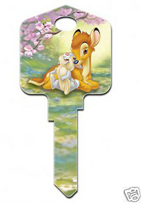 Bambi and Thumper DISNEY COLLECTABLE UNCUT HOUSE KEY BLANK