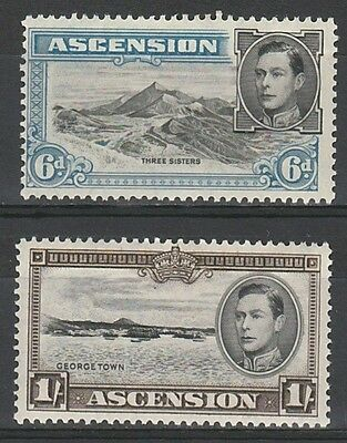 Ascension 1938 Kgvi Pictorial 6D And 1/- Perf 13.5