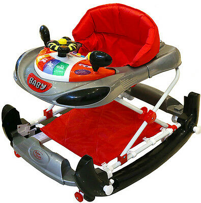 Bebe Style Deluxe 2 IN 1 F1 Racing Car Baby Walker/Rocker +Musical Activity Toy!