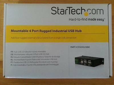 Brand New Startech 4200Usbm Mountable 4 Port Rugged Industrial Usb Hub
