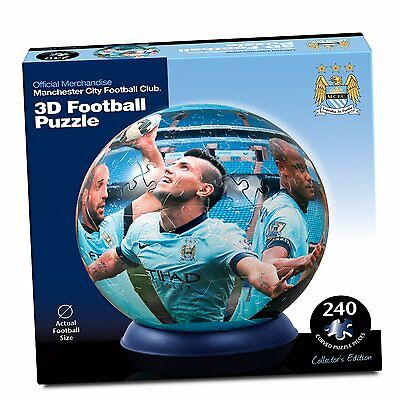 240 Piece Licensed Manchester City Football Club 3D Jigsaw Puzzle Actual Size