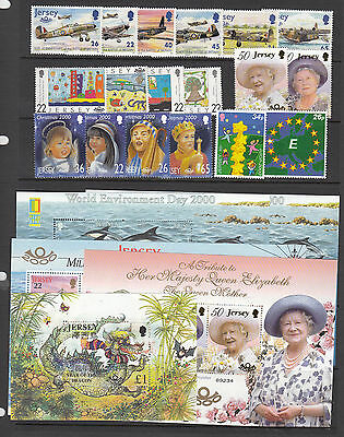 Jersey Un/mint year sets stamps 1983-2000 multi listing your choice