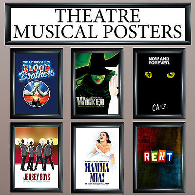 Musical Theatre Posters - Upto A1 Size - Frames Available - Free Uk P&p