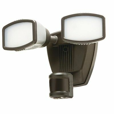 Heath-Zenith HZ-5942-BZ 240-Degree 2-Head Dual Detection Zone White LED Motion-A