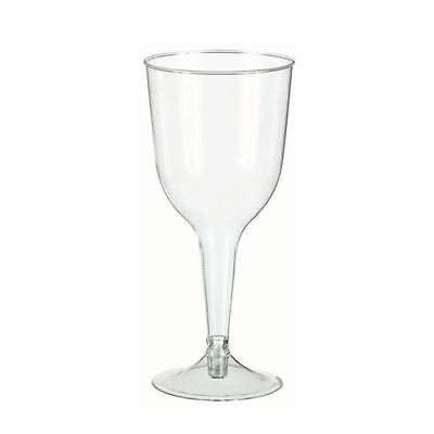 Clear Plastic Wine Goblets Glasses Party Drink Party Wedding Catering Buffet