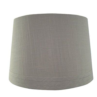 allen + roth LSH027 10-in x 15-in Gray Fabric Drum Lamp Shade