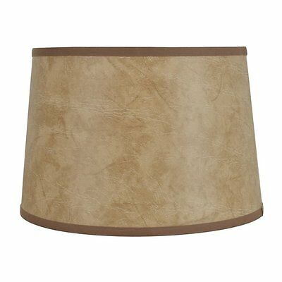allen + roth SH2920 10-in x 15-in Faux Leather Fabric Drum Lamp Shade