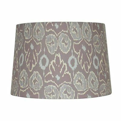allen + roth SH2894 9-in x 13-in Screen Print Fabric Drum Lamp Shade