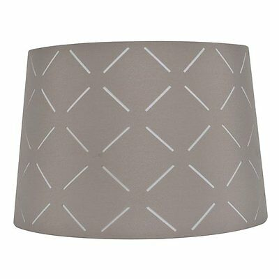 allen + roth SH2902 10-in x 15-in Gray Fabric Drum Lamp Shade