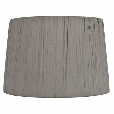 allen + roth SH2904 10-in x 15-in Gray Fabric Drum Lamp Shade