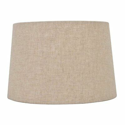 allen + roth SH2910 9-in x 13-in Tan Linen Fabric Drum Lamp Shade