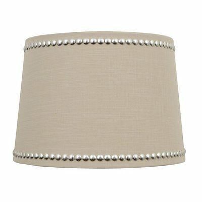 allen + roth SH2940 9-in x 13-in Linen Fabric Drum Lamp Shade