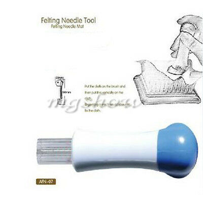 Needle Felting Handle Holder Tool With 7 Needles Wool Embroidery Hobby Kit Craft