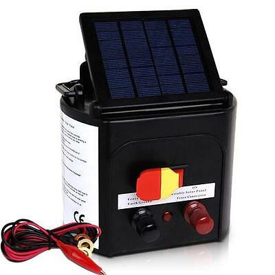 Animal Livestock Farm Solar Power Electric Fence Energiser Charger -5km Distance