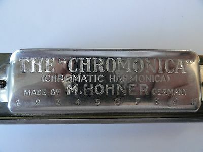 Vintage The Chromonica Chromatic Harmonica Made By M. Hohner In Germany