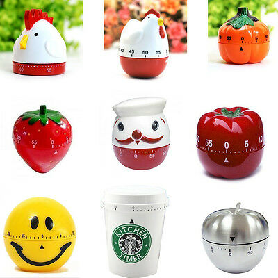 Creative Plastic Mechanical Kitchen Cooking Alarm Timer Reminder 60 Minute Tools