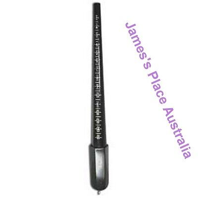 Ring Stick Sizes - Black Plastic  -  for sizing & ring making