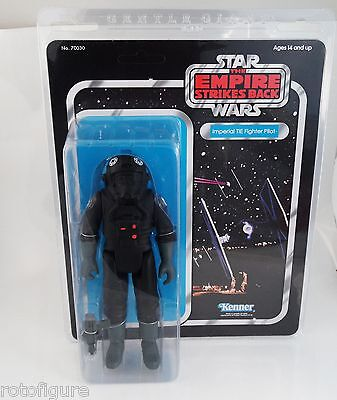 "Gentle giant star wars Jumbo 12"" imperial tie fighter pilot black kenner MOC"