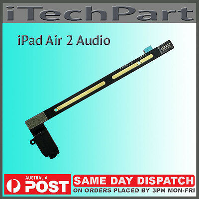 Headphone Jack Audio Flex Cable Replacement For iPad Air 2 iPad 6 BLACK