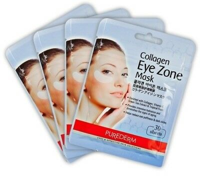 SALE  Korean  Purederm Collagen Eye Zone Pad Patches Mask 30 Sheets Wrinkle Care