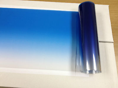 "Solar Non Reflective Blue Color Tint Strips 8"" X 6 Ft With D,i,y, Kit"