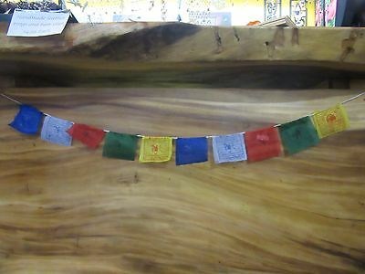 Tiny Mini Tibetan Prayer Flags 1 meter 10 flags Peace Prayer Offering Buddist