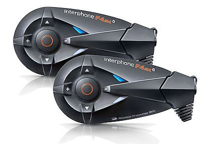 New Interphone F4Mc Twin Pack For 2 Bikers Free Delivery