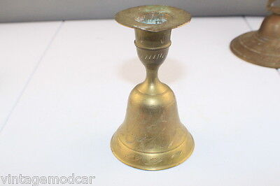 Vintage Brass Ornate Candle Stick Bell with Ringer, Excell Con