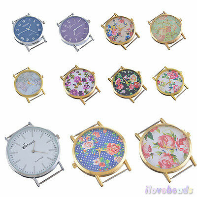 Fashion Flower Floral Print Watch Face for Watch Jewellery Making Craft DIY