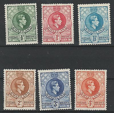 Swaziland 1938 Kgvi 1/2D To 4D Perf 13.5 X 13