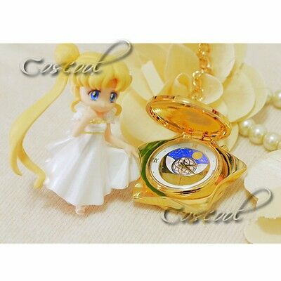 Anime Sailor Moon 20th Anniversary Golden Ver. Pocket Watch Music Box Collection