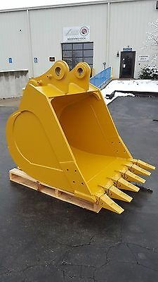 """New 48"""" Cat 324/324DL/329/329D/329E Heavy Duty Excavator Bucket with CB Linkage"""